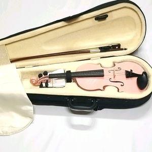 Mendini by Cecilio Size 1/8 Violin Pink